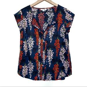 Boden Vita Pleat Front Silk Blend Blouse Size 8